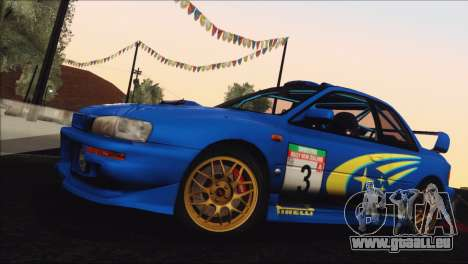 Subaru Impreza 22B STi 1998 pour GTA San Andreas salon