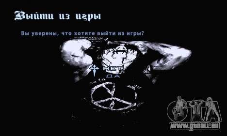 Noir Métal Menu (en plein écran) pour GTA San Andreas huitième écran