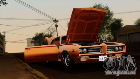 Pontiac GTO The Judge Hardtop Coupe 1969 für GTA San Andreas zurück linke Ansicht