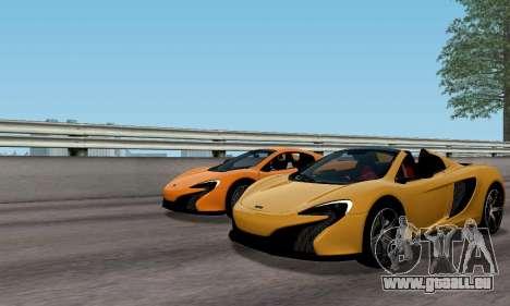 McLaren 650S Spyder 2014 pour GTA San Andreas vue arrière