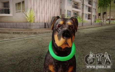 Rottweiler from GTA V pour GTA San Andreas troisième écran