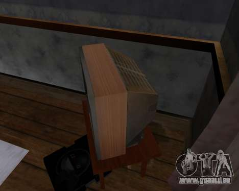 Colour television alpha TC-DU pour GTA San Andreas cinquième écran