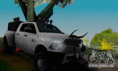 Dodge Ram 3500 Super Reforzada pour GTA San Andreas vue de dessus