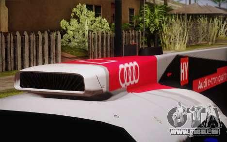 Audi R18 E-tron Quattro 2014 für GTA San Andreas Rückansicht