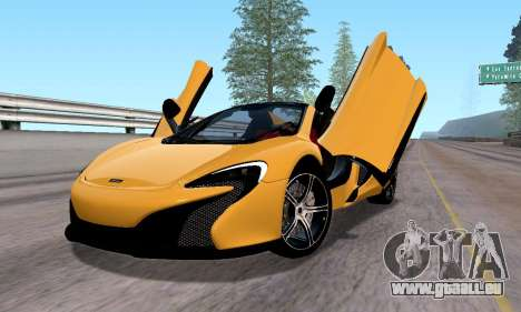 McLaren 650S Spyder 2014 pour GTA San Andreas laissé vue