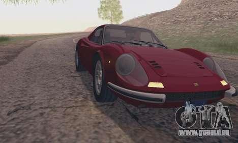 Ferrari Dino 246 GTS Coupe pour GTA San Andreas vue de droite