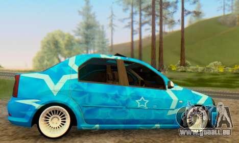 Dacia Logan Blue Star für GTA San Andreas rechten Ansicht
