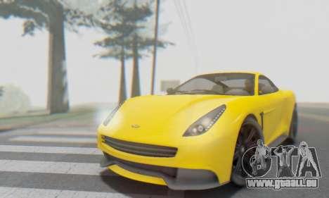 Dewbauchee Massacro 1.0 für GTA San Andreas obere Ansicht