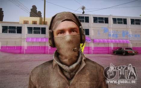 Mercenaire sans armure (COD MW3) pour GTA San Andreas troisième écran
