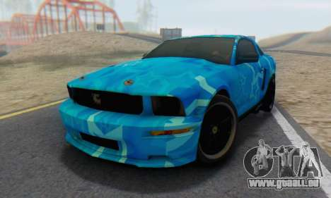 Ford Mustang Shelby Blue Star Terlingua für GTA San Andreas