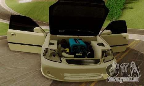 Honda Civic ek Coupe Hellaflush für GTA San Andreas Rückansicht