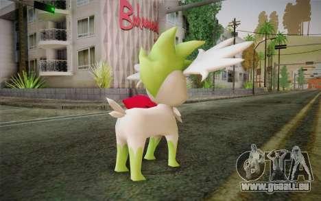 Shaymin Sky from Pokemon pour GTA San Andreas deuxième écran