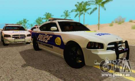 Pursuit Edition Police Dodge Charger SRT8 für GTA San Andreas zurück linke Ansicht