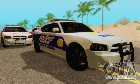 Pursuit Edition Police Dodge Charger SRT8 pour GTA San Andreas sur la vue arrière gauche