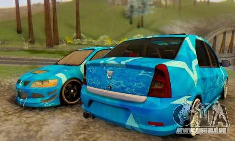 Dacia Logan Blue Star pour GTA San Andreas sur la vue arrière gauche