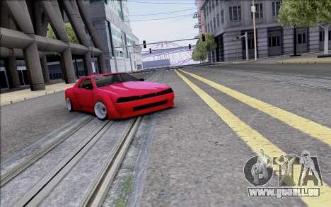 Elegy Rocket Bunny pour GTA San Andreas vue de dessus