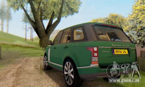 Range Rover Vogue 2014 V1.0 UK Plate für GTA San Andreas Unteransicht