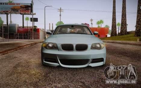 BMW 135i Limited Edition für GTA San Andreas Rückansicht