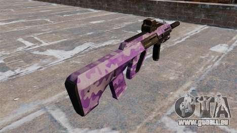 Machine Steyr AUG A3 Violet Camo pour GTA 4 secondes d'écran