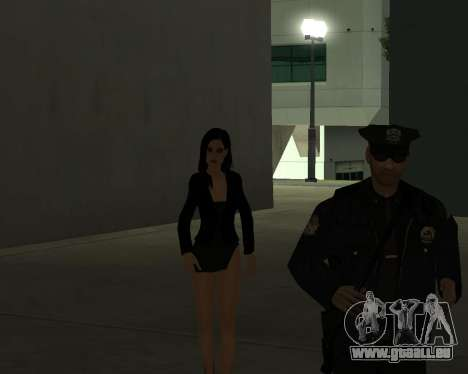 Black Dressed Girl für GTA San Andreas siebten Screenshot