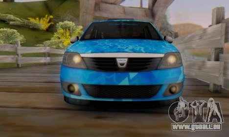 Dacia Logan Blue Star für GTA San Andreas Unteransicht