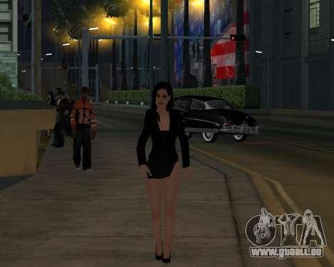 Black Dressed Girl für GTA San Andreas fünften Screenshot