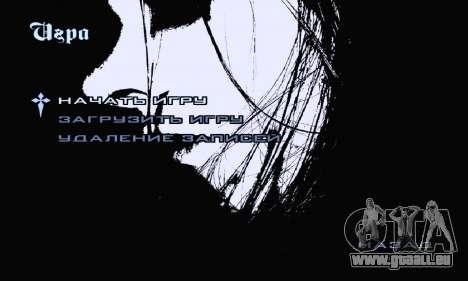 Noir Métal Menu (en plein écran) pour GTA San Andreas troisième écran