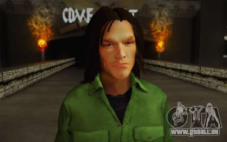 Sam Winchester из Surnaturel pour GTA San Andreas troisième écran