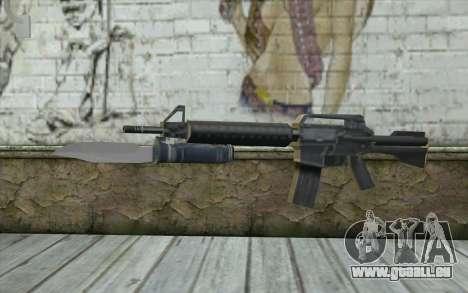 M4A1 avec une baïonnette pour GTA San Andreas