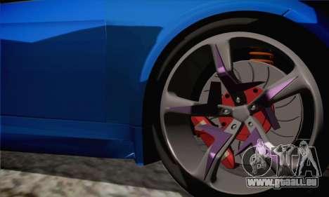 BMW M3 E92 SHDru Tuning pour GTA San Andreas sur la vue arrière gauche