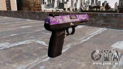 Pistolet FN Cinq à sept Violet Camo pour GTA 4 secondes d'écran