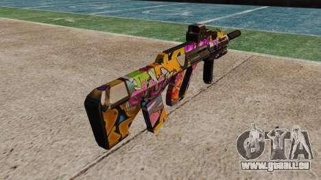 Автомат Steyr AUG-A3-Optik-Graffiti für GTA 4 Sekunden Bildschirm