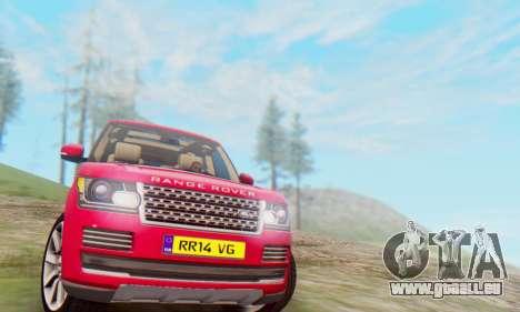Range Rover Vogue 2014 V1.0 UK Plate für GTA San Andreas linke Ansicht