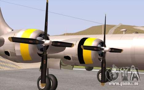 B-29A Superfortress pour GTA San Andreas vue arrière