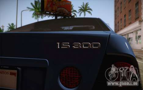 Lexus IS300 2003 für GTA San Andreas Rückansicht