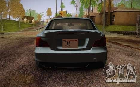 BMW 135i Limited Edition pour GTA San Andreas vue intérieure