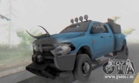Dodge Ram 3500 Super Reforzada pour GTA San Andreas vue intérieure