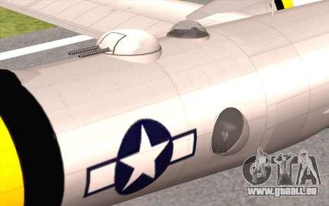 B-29A Superfortress pour GTA San Andreas vue de droite