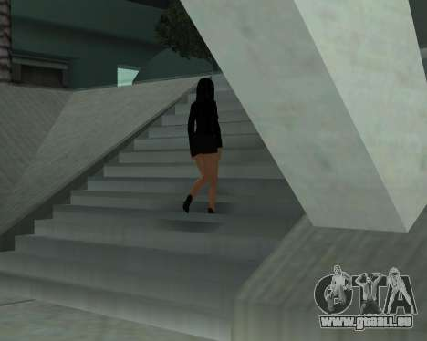 Black Dressed Girl für GTA San Andreas sechsten Screenshot