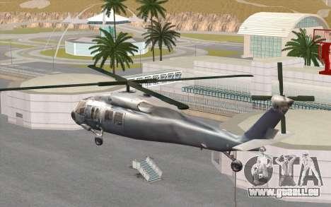 UH-60 Blackhawk für GTA San Andreas linke Ansicht