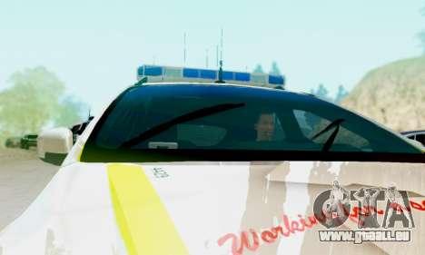 Ford Focus ST 2013 British Hampshire Police pour GTA San Andreas vue de droite