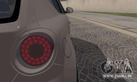 Afla Romeo Mito Quadrifoglio Verde pour GTA San Andreas vue de dessus