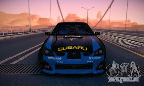 Subaru Impreza WRC STI Black Metal Rally pour GTA San Andreas vue de dessus