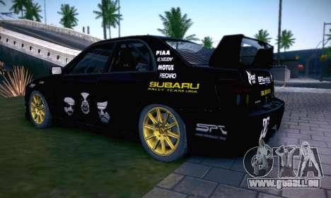 Subaru Impreza WRC STI Black Metal Rally für GTA San Andreas Räder