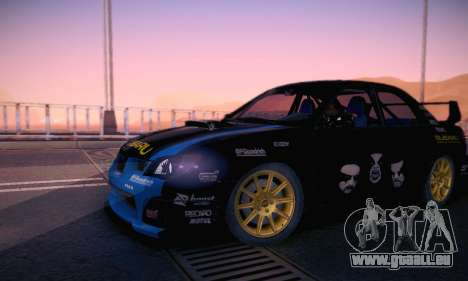 Subaru Impreza WRC STI Black Metal Rally pour GTA San Andreas vue de dessous
