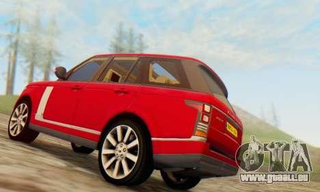 Range Rover Vogue 2014 V1.0 UK Plate pour GTA San Andreas vue arrière