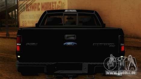 Ford F-150 SVT Raptor 2011 pour GTA San Andreas vue intérieure