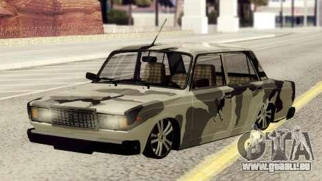 VAZ 2107 en tenue de camouflage pour GTA San Andreas
