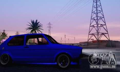 Volkswagen Golf Mk I Punk für GTA San Andreas obere Ansicht