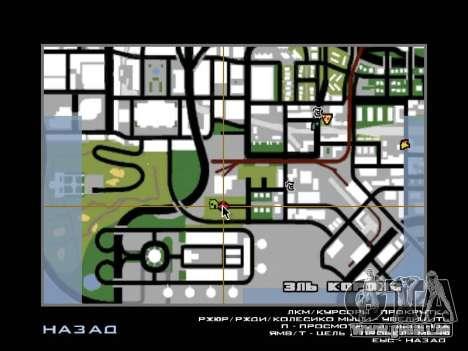Dschungel auf einer Straße Aztec für GTA San Andreas sechsten Screenshot